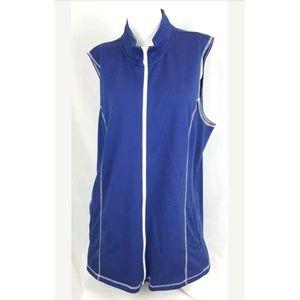 Quacker Factory Blue Zippered Vest size XL